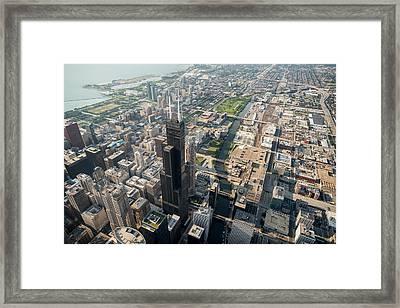 Willis Tower Southwest Chicago Aloft Framed Print
