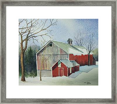 Williston Barn Framed Print by Mary Ellen Mueller Legault