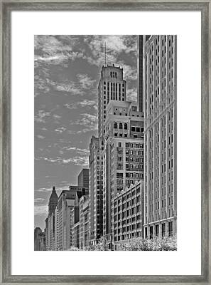 Willoughby Tower And 6 N Michigan Avenue Chicago  Framed Print