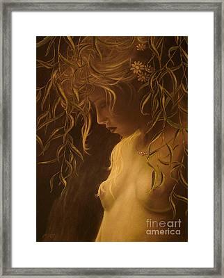 Willow Girl Framed Print by John Silver