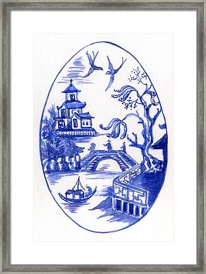 Willow Pattern Egg II Framed Print