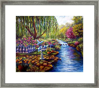 Willow Tree By The Stream Framed Print