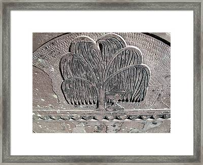 Willows And Urn Framed Print by Barbara McDevitt
