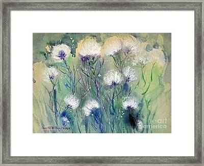 Willowy Whites Framed Print