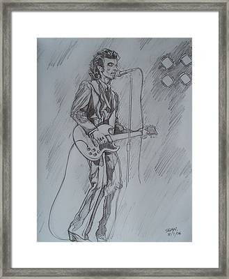 Mink Deville - Steady Drivin' Man Framed Print by Sean Connolly