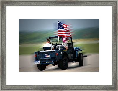 Willy Jeep From The 32nd Air Defense Framed Print by Thomas Woolworth