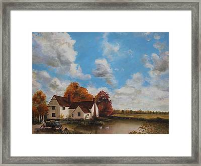 Willy Lott's Cottage Framed Print by Cecilia Brendel