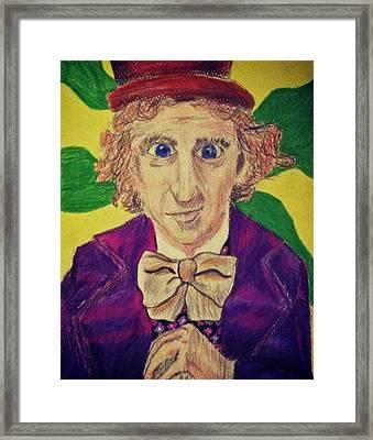 Willy Wonka Framed Print by Jessica Sanders
