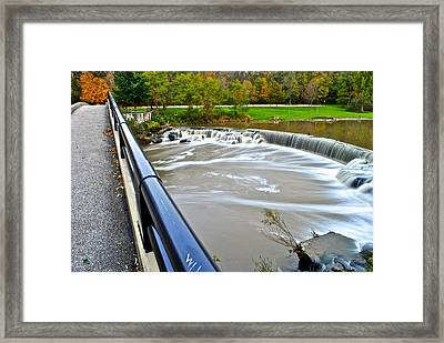 Willy Wonkas Chocolate Falls Framed Print by Frozen in Time Fine Art Photography