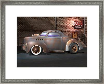 Willys Street Rod Framed Print