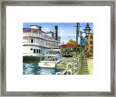 Wilmington Dock Framed Print