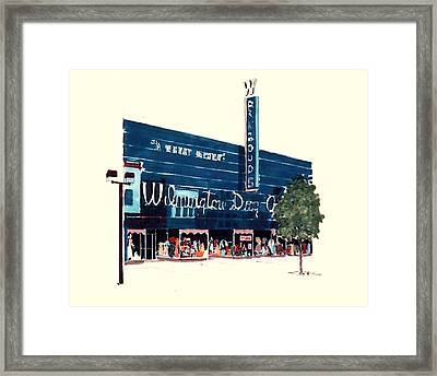 Framed Print featuring the painting Wilmington Dry Goods by William Renzulli