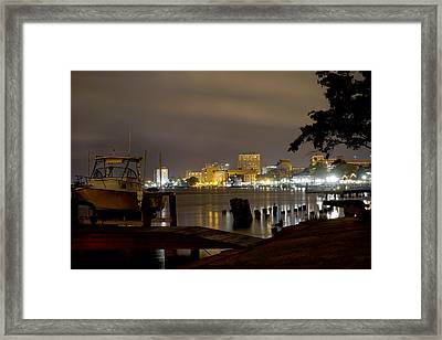 Wilmington Riverfront - North Carolina Framed Print by Mike McGlothlen