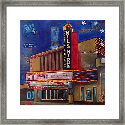 Wilshire Theater Framed Print by Katrina Rasmussen