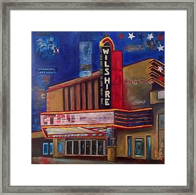 Wilshire Theater Framed Print