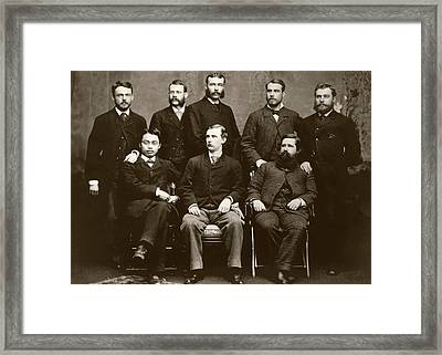 Wilson And Hartwell In Group Portrait Framed Print by American Philosophical Society