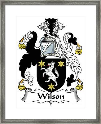 Wilson Coat Of Arms I Donegal  Framed Print