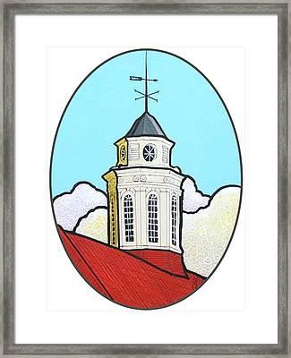 Wilson Hall Cupola - Jmu Framed Print by Jim Harris