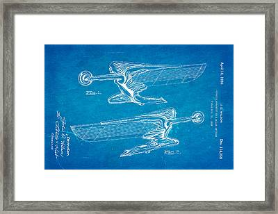 Wilson Hood Ornament Patent Art 1939 Blueprint Framed Print by Ian Monk