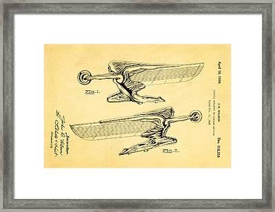 Wilson Hood Ornament Patent Art 1939 Framed Print by Ian Monk