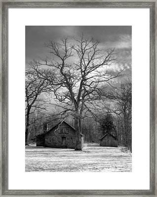 Wilson Lick Ranger Station Framed Print by Debra and Dave Vanderlaan