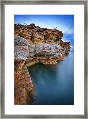 Wilson Stone Framed Print by Thomas Zimmerman