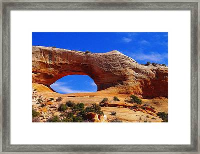 Wilsons Arch Framed Print by Jeff Swan
