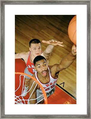 Wilt Chamberlain In College Framed Print by Retro Images Archive