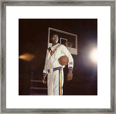 Wilt Chamberlain In Warmups Framed Print by Retro Images Archive