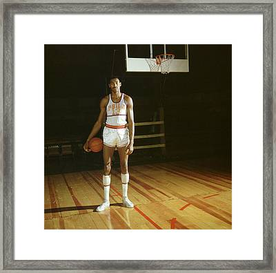 Wilt Chamberlain Stands Tall Framed Print by Retro Images Archive