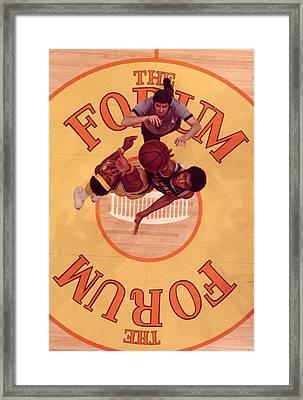 Wilt Chamberlain Vs. Kareem Abdul Jabbar Tip Off Framed Print