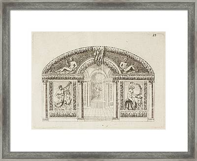 Wilton Garden Framed Print by British Library