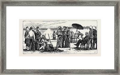 Wimbledon Camp, Shooting For The Army And Navy Challenge Cup Framed Print