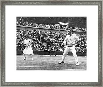 Wimbledon Championship Play Framed Print by Underwood Archives