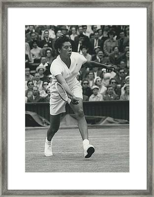 Wimbledon Championships - Second Day..., Althea Gibson In Framed Print by Retro Images Archive