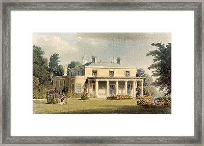 Wimbledon Park, From R. Ackermanns Framed Print by Thomas Hosmer Shepherd