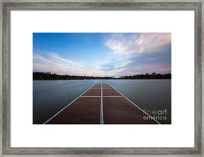 Wimbledon Park Sunset Framed Print by Matt Malloy