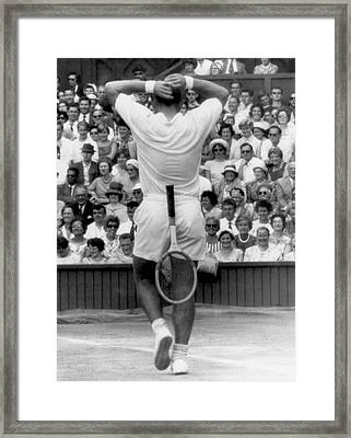 Wimbledon Win Framed Print by Underwood Archives
