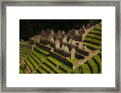 Winay Wayna Framed Print by FireFlux Studios