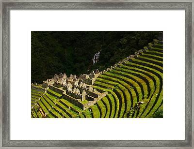 Winay Wayna Wide View Framed Print by FireFlux Studios