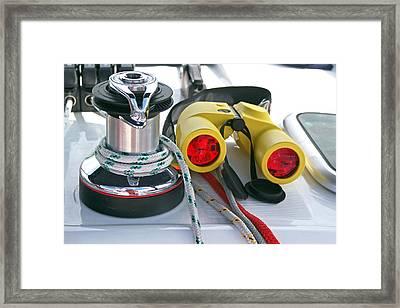Winch And Binoculars Framed Print by Gary Eason
