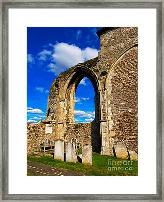 Winchelsea Church Framed Print by Louise Heusinkveld