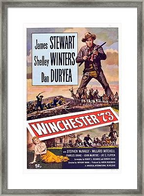Winchester 73, Shelley Winters, James Framed Print by Everett