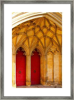 Winchester Cathedral Archway - Mike Hope Framed Print