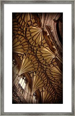 Winchester Cathedral Ceiling Framed Print by Stephen Stookey