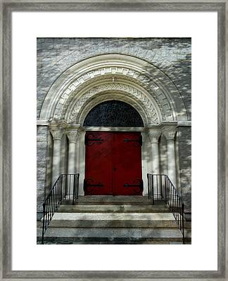Framed Print featuring the photograph Winchester Church by Joseph Skompski