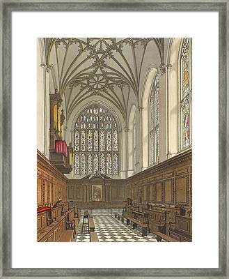 Winchester College Chapel, From History Framed Print by Frederick Mackenzie