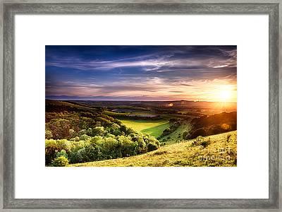 Winchester Hill Sunset Framed Print