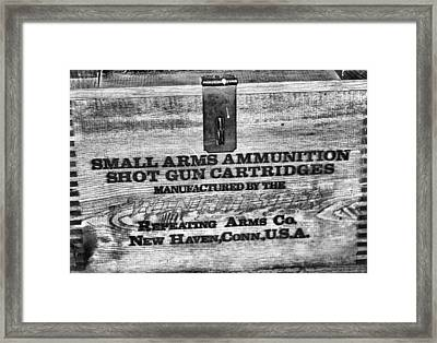 Winchester In Black And White Framed Print by Dan Sproul
