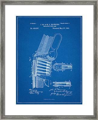 Winchester Magazine Firearm Patent Framed Print by Decorative Arts
